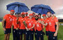 England's T20 squad celebrate their 3-0 clean sweep, West Indies v England, 3rd T20I, St Kitts, March 10, 2019