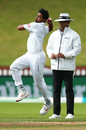 Abu Jayed jumps into his James Anderson-esque load-up position, New Zealand v Bangladesh, 2nd Test, Wellington, 4th day, March 11, 2019