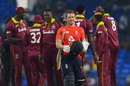 Eoin Morgan leaves the field after sealing England's 3-0 clean sweep, West Indies v England, 3rd T20I, St Kitts, March 10, 2019