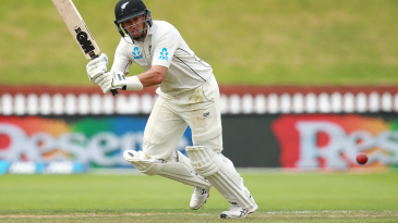 Ross Taylor whips the ball into the leg side