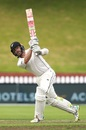 Kane Williamson plays on the leg side, New Zealand v Bangladesh, 2nd Test, Wellington, 4th day, March 11, 2019