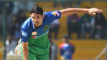 Mohammad Abbas in his delivery stride