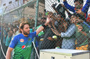 Shahid Afridi walks up close to the spectators, Lahore Qalandars v Multan Sultans, Karachi, March 11, 2019