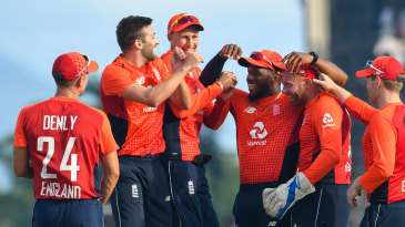England celebrate as another West Indies wicket falls