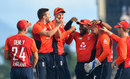 England celebrate as another West Indies wicket falls, West Indies v England, 3rd T20I, St Kitts, March 10, 2019