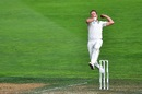 Neil Wagner in his bowling action, New Zealand v Bangladesh, 2nd Test, Wellington, 4th day, March 11, 2019