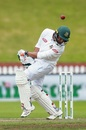 Mahmudullah avoids a bouncer, New Zealand v Bangladesh, 2nd Test, Wellington, 5th day, March 12, 2019