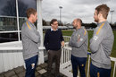Tony Adams chats to Essex squad members during his visit to Chelmsford, March 7, 2019
