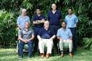 Sourav Ganguly, Vince van der Bijl, Shakib Al Hasan (standing), Shane Warne, Mike Gatting and Kumar Sangakkara (sitting) at the MCC World Committee meeting, Bengaluru, March 8, 2019