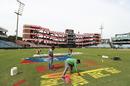 The Feroz Shah Kotla ground gets some finishing touches, Delhi, March 12, 2019