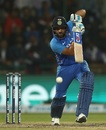Rohit Sharma punches down the ground, India v Australia, 5th ODI, New Delhi, March 13, 2019