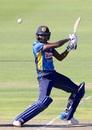 Isuru Udana en route to the fourth-highest ODI score by a No. 9 batsman, South Africa v Sri Lanka, 4th ODI, Port Elizabeth, March 13, 2019