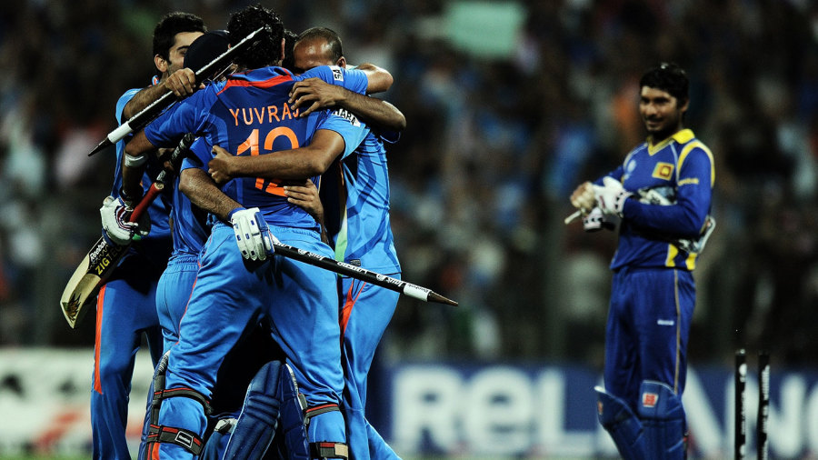 At the 2011 World Cup final, India were impressive to chase down Sri Lanka's 274, which was the batting par score for that time