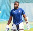 Aaron Jones wraps up a net session, Dubai, March 14, 2019