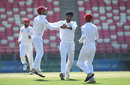 Yamin Ahmadzai celebrates after getting a wicket, Afghanistan v Ireland, Only Test, 1st day, Dehradun, March 15, 2019