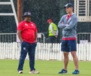 USA coach Pubudu Dassanayake stands frustrated in the rain as USA's maiden T20I ended with no result, UAE v USA, 1st T20I, Dubai, March 15, 2019