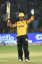 Kamran Akmal celebrates his fifty, Peshawar Zalmi v Islamabad United, PSL 2019, Karachi, March 15, 2019