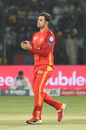 Cameron Delport acknowledges a fielding effort, Peshawar Zalmi v Islamabad United, PSL 2019, Karachi, March 15, 2019