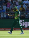 Imran Tahir is pumped after taking a good catch, South Africa v Sri Lanka, 5th ODI, Cape Town, March 16, 2019