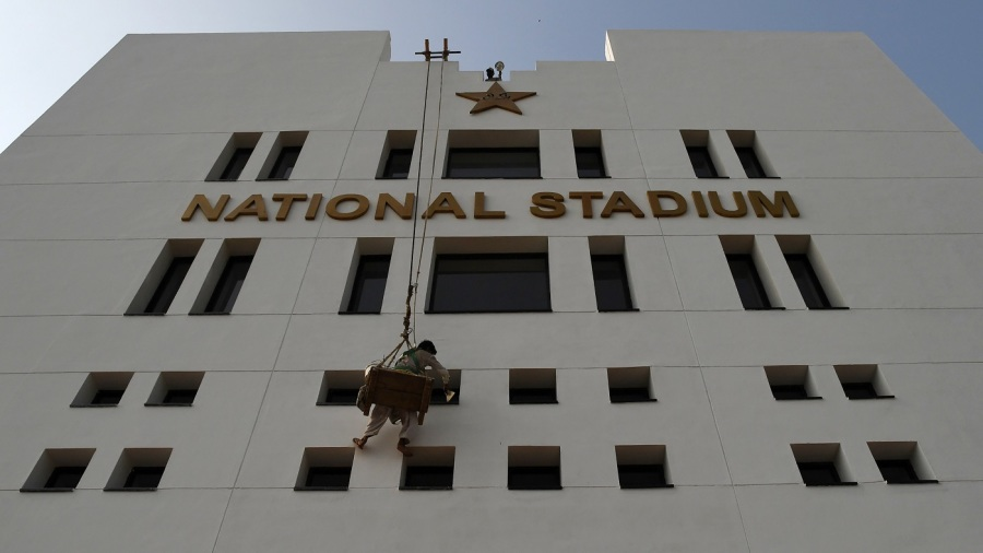 The National Stadium in Karachi is spruced up in the build-up to the Pakistan leg of PSL 2019