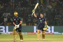 Rilee Rossouw and Ahmed Shehzad walk off the field after winning PSL 2019 , Quetta Gladiators v Peshawar Zalmi, PSL 2019 final, Karachi, March 17, 2019