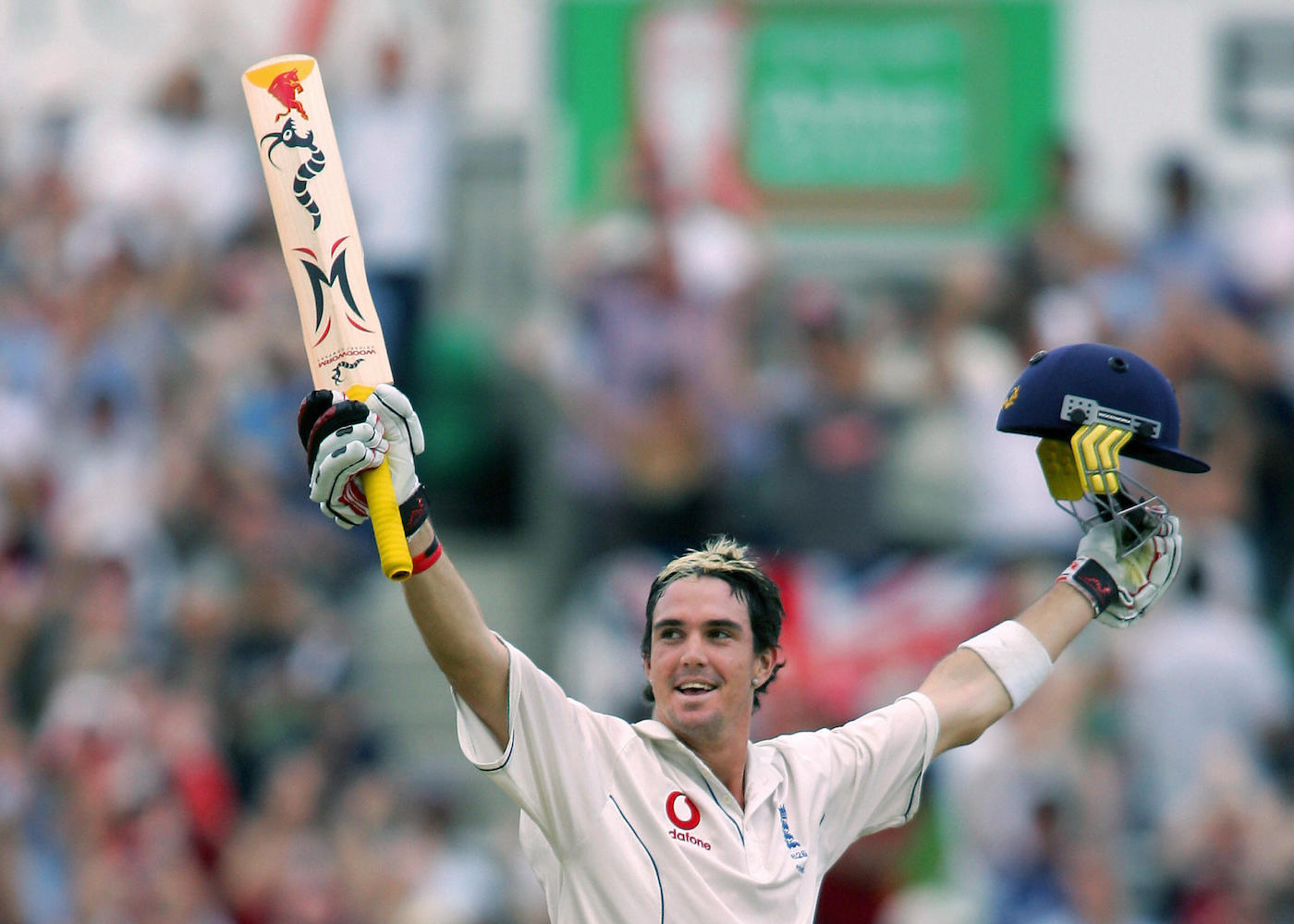 It was all yellow: a young Kevin Pietersen's frosted tips match his Woodworm Torch