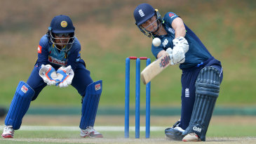 Amy Jones drives one down the ground