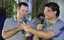 Ricky Ponting and Sourav Ganguly, coach and advisor with Delhi Capitals respectively, share a laugh at a press event