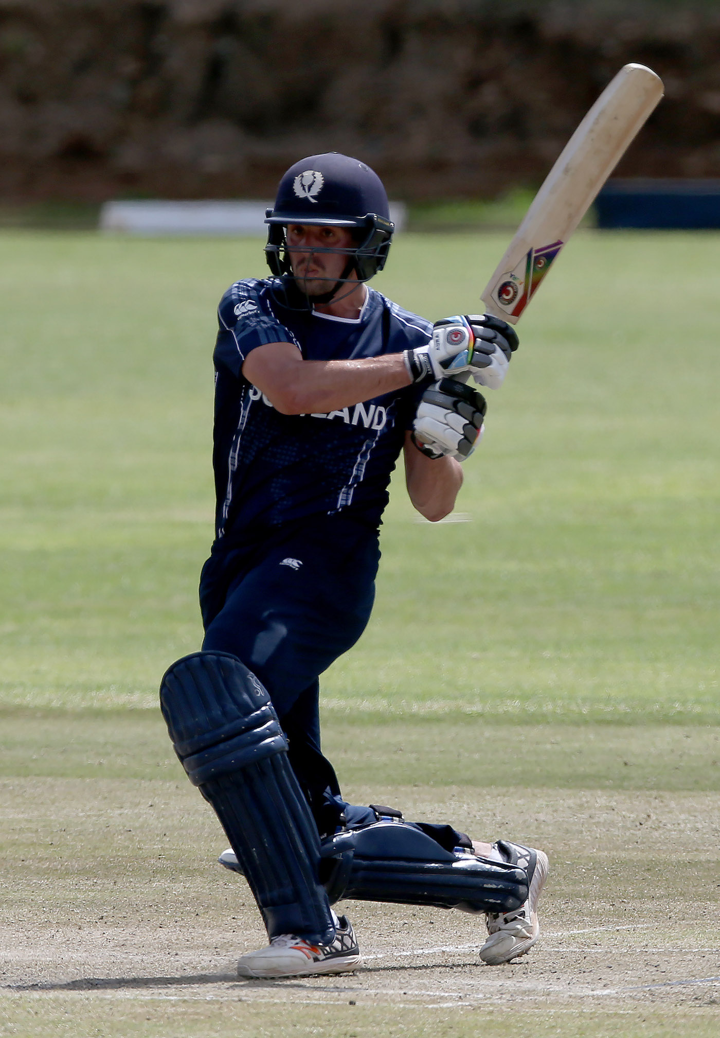 Calum MacLeod dismantled Rashid Khan in the opening match of the World Cup Qualifiers - 49 of his 157 runs came off Rashid's bowling