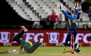 David Miller was run out as South Africa stumbled, South Africa v Sri Lanka, 1st T20I, Cape Town, March 19, 2019