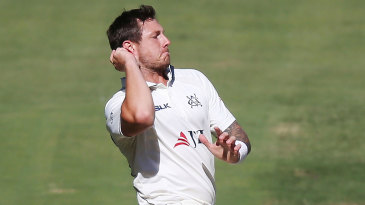 James Pattinson in his delivery stride