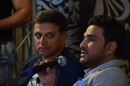 Rahul Dravid and Sanjay Manjrekar at the launch of ESPNcricinfo's Superstats