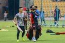 India's football team captain Sunil Chhetri joined Virat Kohli at the RCB camp, Bengaluru, March 19, 2019