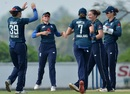 Kate Cross (second from right) had Sri Lanka in trouble early on with quick wickets, Sri Lanka v England, 3rd ODI, ICC Women's Championship, Katunayake, March 21, 2019