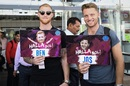 Rajasthan Royals' English imports Ben Stokes and Jos Buttler in Jaipur