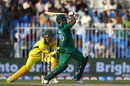 Umar Akmal hits out, Pakistan v Australia, 1st ODI, Sharjah, March 22, 2019