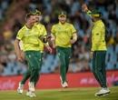 Dale Steyn celebrates a wicket, South Africa v Sri Lanka, 2nd T20I, Centurion, March 22, 2019