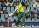Rassie van der Dussen goes for a pull, South Africa v Sri Lanka, 2nd T20I, Centurion, March 22, 2019