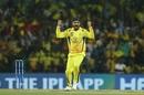 Harbhajan Singh celebrates a wicket, Chennai Super Kings v Royal Challengers Bangalore, Chennai, IPL 2019, March 23, 2019