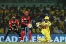 Suresh Raina plays a sweep, Chennai Super Kings v Royal Challengers Bangalore, Chennai, IPL 2019, March 23, 2019