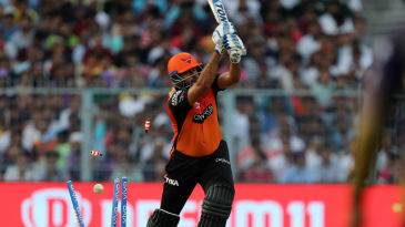 Yusuf Pathan is taken out by a yorker