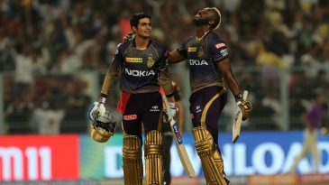 Andre Russell and Shubman Gill gave KKR a come-from-behind victory