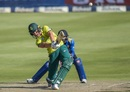 Dwaine Pretorius goes for a big hit, South Africa v Sri Lanka, 3rd T20I, Johannesburg, March 24, 2019