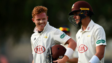Ollie Pope (L) and Jamie Smith (R) scored centuries for Surrey against MCC on day two of the County Champion match in Dubai