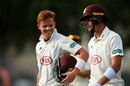 Ollie Pope (L) and Jamie Smith (R) scored centuries for Surrey against MCC, County Champion match, day two, Dubai, March 25, 2019