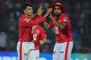 Mujeeb Ur Rahman and R Ashwin celebrate a wicket, Rajasthan Royals v Kings XI Punjab, IPL 2019, Jaipur, March 25, 2019