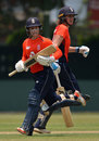 Tammy Beaumont and Nat Sciver run between the wickets, Sri Lanka v England, 2nd T20I, March 26, 2019