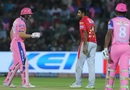 Jos Buttler and R Ashwin have an exchange after the mankading incident, Rajasthan Royals v Kings XI Punjab, Indian Premier League 2019, Jaipur, March 25, 2019