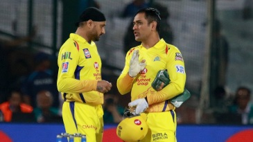 MS Dhoni and Harbhajan Singh fine-tune their plans