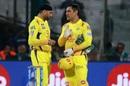 MS Dhoni and Harbhajan Singh fine-tune their plans, Delhi Capitals v Chennai Super Kings, Indian Premier League 2019, New Delhi, March 26, 2019